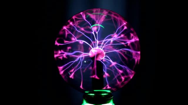 Magic plasma ball in the dark video