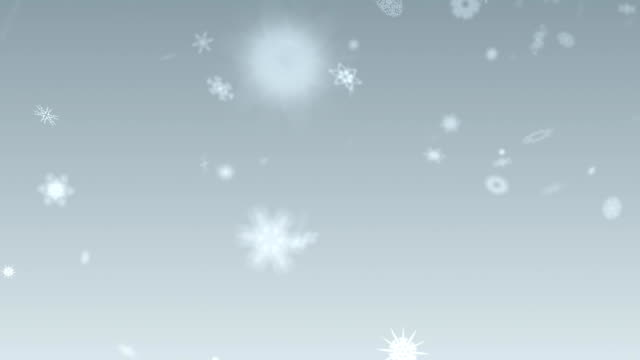 Magic snowflakes falling from the sky video