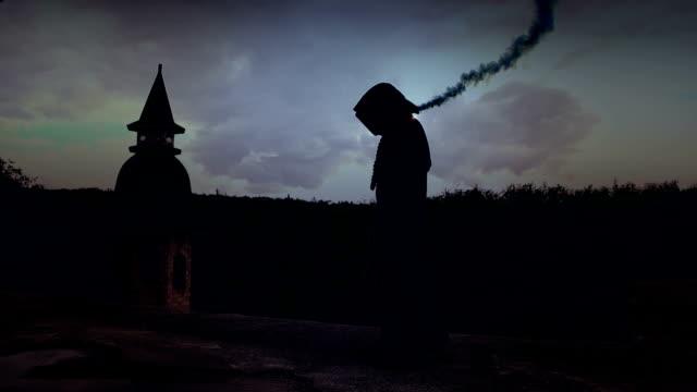 magic sorcerer casting spell video