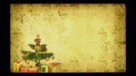 Magical Growing Christmas Tree. Grunge version. Loopable between 17:00-26:00. video