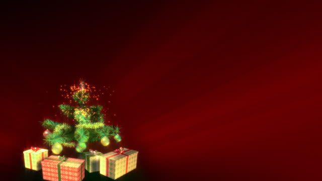 Magical Growing Christmas Tree with Merry_Christmas. Loopable between 17:00-26:00. video