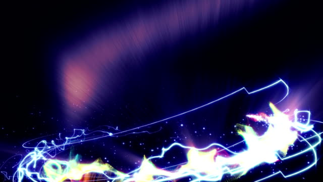Magical Particles Ring Abstract Background, Animation, Rendering, Loop video
