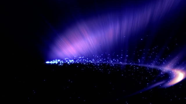 Magical Particles Ring Abstract Background, Animation video
