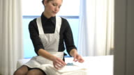 Maid at work; HD Photo JPEG video