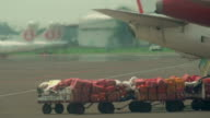 Mail Bags Waiting to be Loaded into Airplane video