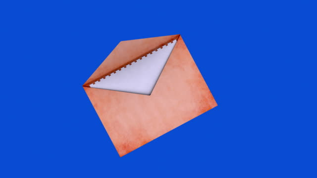 Mail with blue screen video