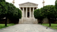 Main building of the Academy of Athens in Greece video