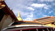 Main Chapel and Chedi of Wat RatchaBophit Buddhism Temple Bangkok Motion Time-lapse video