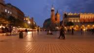 Main Market square of Krakow video