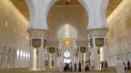 main mosque interior 4k uae video