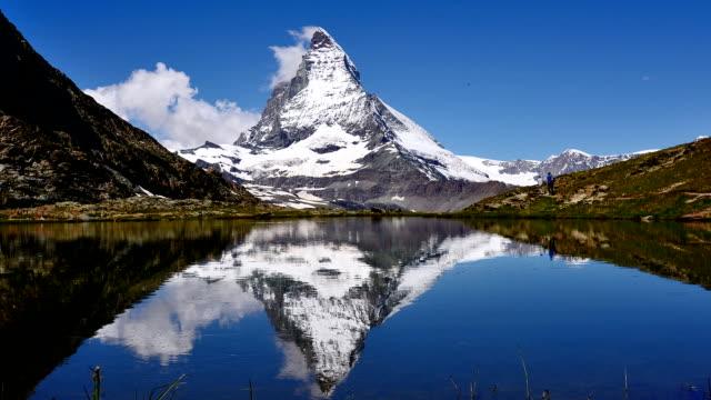 Main peak of the Matterhorn reflection in the lake video