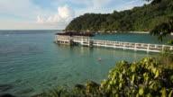 Main Pier at Perhentian Besar Island, Malaysia video