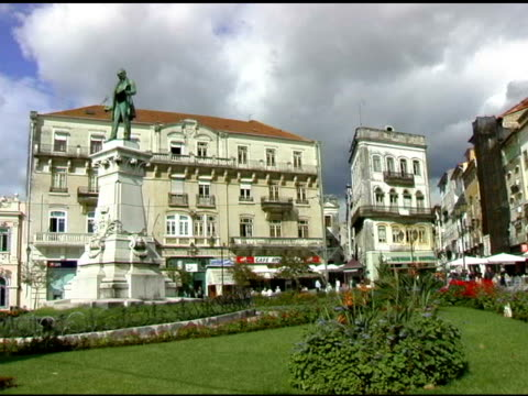Main Plaza in Coimbra Portugal video