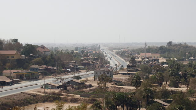 Main road going through small town video