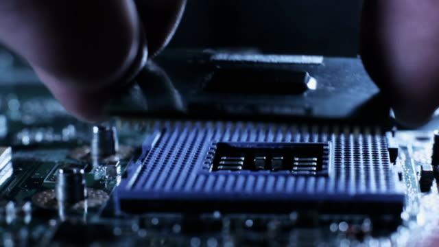 Maintenance computer cpu upgrade of motherboard. video