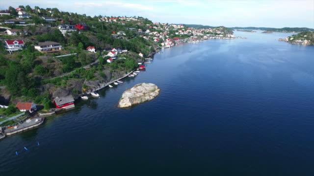 Majestic coastal scenery of Kragero, Norway video