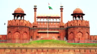 Majestic facade of Red Fort video