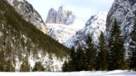Majestic High Mountain Winter Landscape PAN video