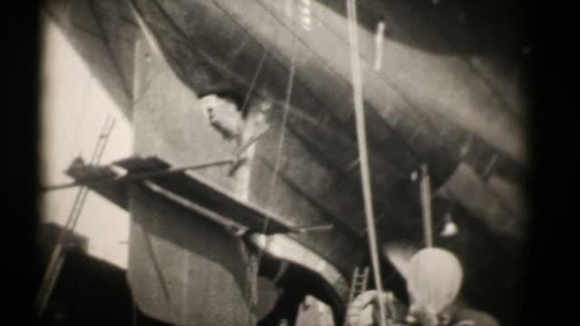RMS Majestic in Dry Docks 16mm 1927 (HD1080) video
