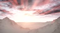 Majestic Remote Wilderness Snow Mountains Sunrise Landscape video