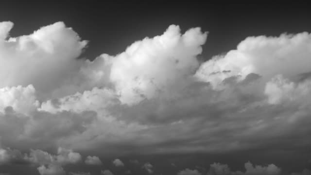 Majestic timelapse clouds. Black and white. video