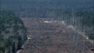 Major Power Lines  - Aerial View - Florida,  Sumter County,  United States video