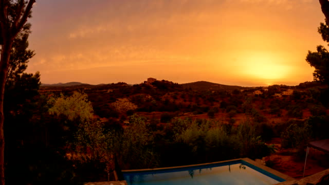 Majorca view from secluded villa video