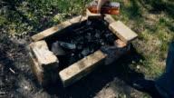 make a fire after Pour lighter fluid video