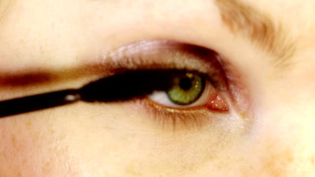 HD: Make Up Applying On Eyelids video