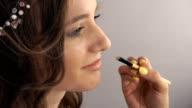 makeup artist doing makeup video