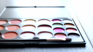Make-up  colorful cosmetic palette video