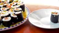 Maki sushi video