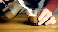 Making A Caramel Macchiato Coffee video