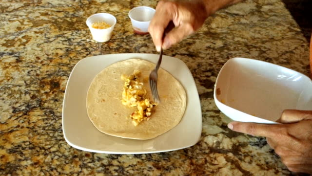 Making a Cheese Burrito at Home video