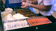 Making a Food in International Buffet of Thailand , Cooking and eating show in Bangkok video