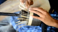 Making basket with horsetail video