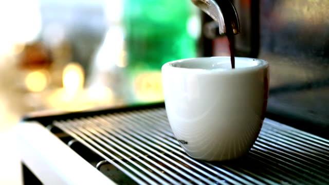 Making espresso coffee. video
