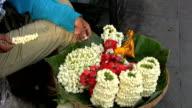 Making Flower Garlands On The Street video