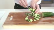 Making fresh salad video
