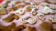 Making gingerbread cookies video