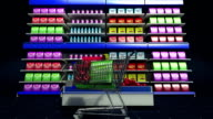 Making grocery shop, supermarket. shopping cart.online purchuse. video