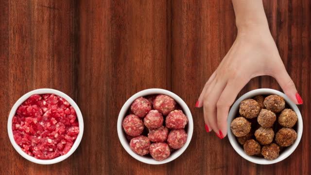 Making meatballs video