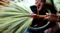 Making of an thai broom is an thai tradition video