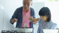Making Pancakes with Granddaughter video