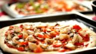 Making pizza at kitchen video
