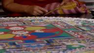 Making Sand mandala video