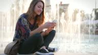 Making selfies in the park video