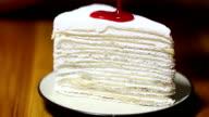 Making strawberry cheese cake video
