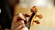 Making the violin - tuning the violin video