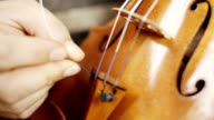 Making the violin - tuning the violin video